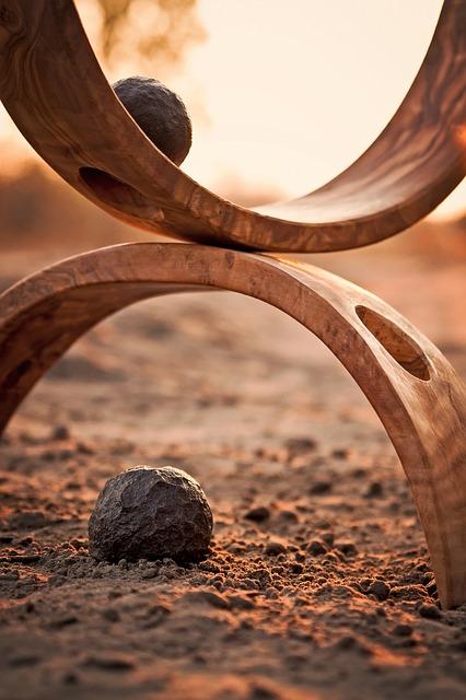 harmonie 2 halve cirkels met 2 ballen